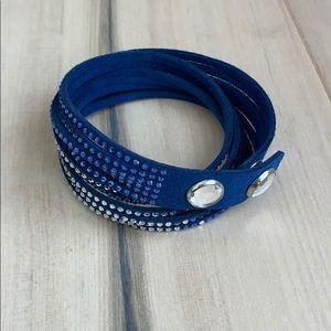 Swarovski wrap bracelet blue NWOT